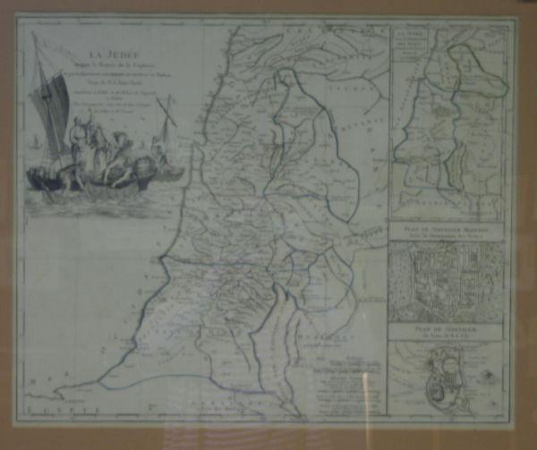30: [Map Of The Holy Land]. La Judee Depuis Le Retour