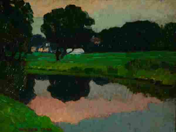 187: Olesen, Olaf (New York, 1873-?) landscape of tree