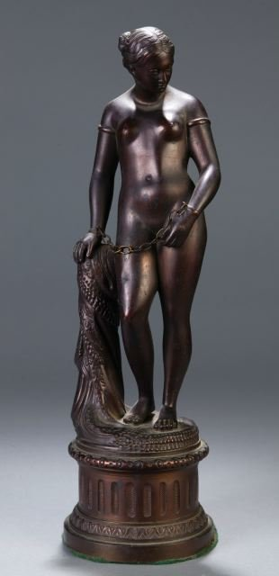 254: Group of 2 reproduction Greek Slave statues