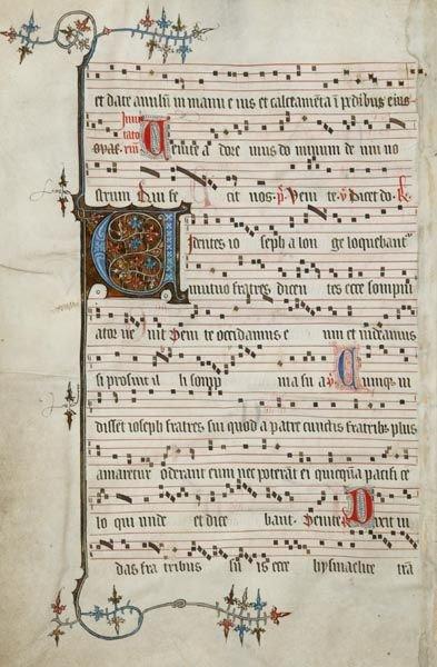 371: [Illuminated Manuscript Antiphonal Leaf].