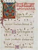 [Illuminated Manuscript Antiphonal Leaf].