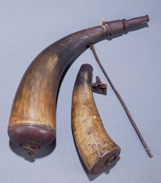410: Pair of 19th Century Powder Horns