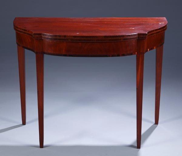 415: English mahogany flip top game table