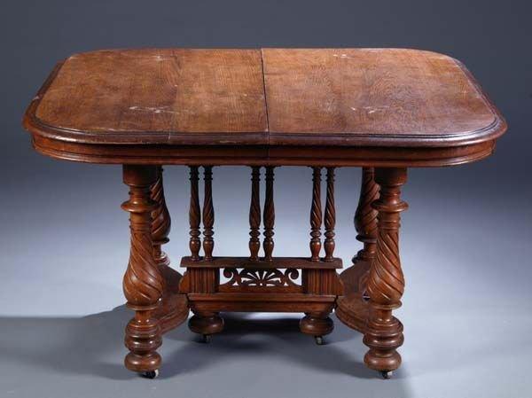 419: Henri II style oak table
