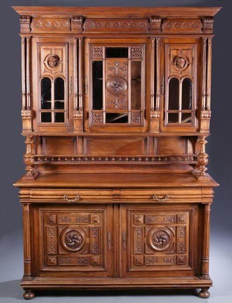 420: Henri II style walnut cabinet