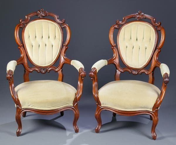 424: 3 Rococo Revival Parlor Chairs