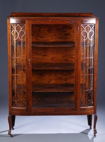 425: American oak china cabinet