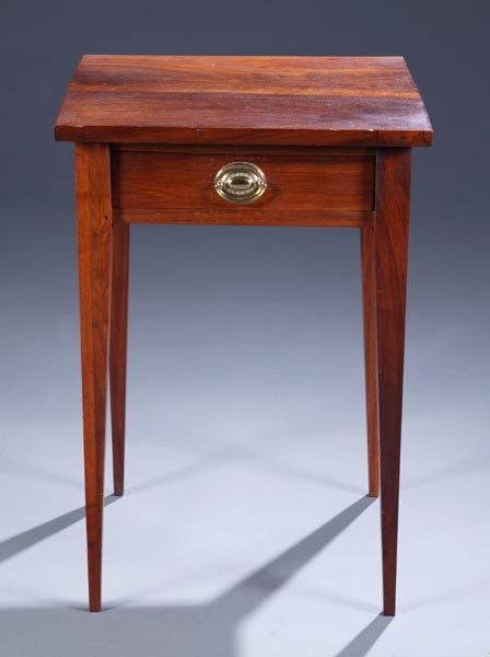 428: American walnut work table with single drawer