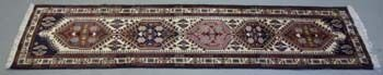 429: Persian Ardabil Runner, 100% wool hand knotted