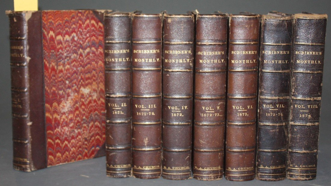 1011: Scribner's Monthly. 8 Vols: Nov. 1870-Oct. 1874.