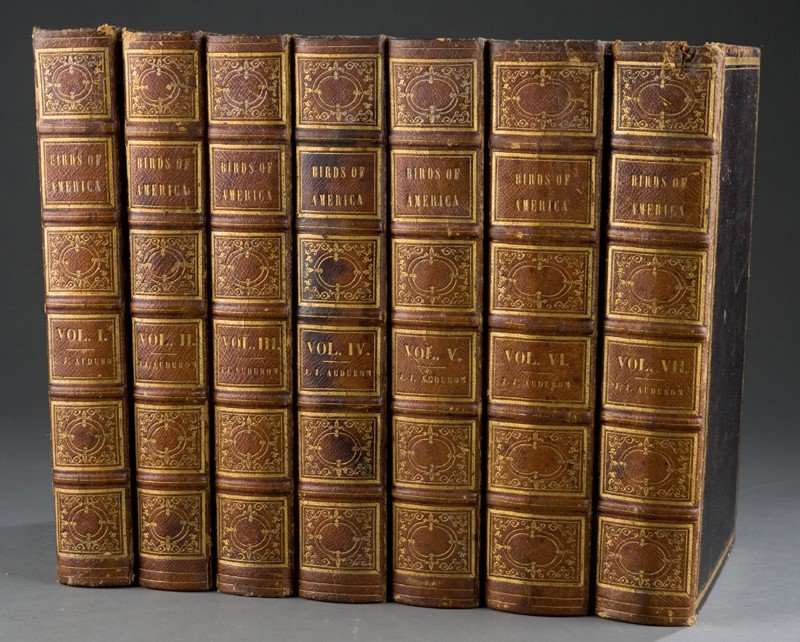 1140: Audubon. THE BIRDS OF AMERICA. 7 Vols. 1840-1844.