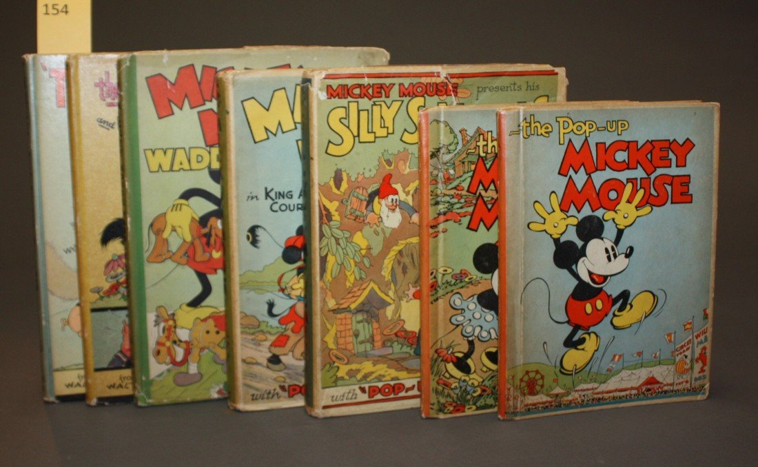 1154: 7 Disney books, incl 4 pop-ups.
