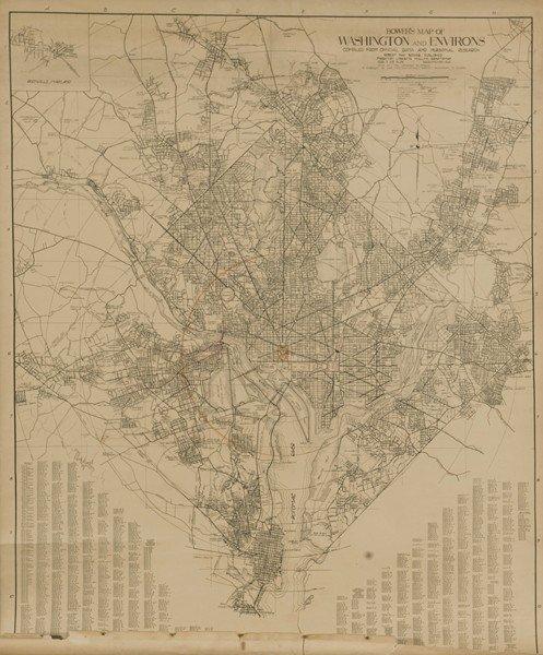 1215: 4 Items: 2 Vols Sanborn + Mitchell's + DC map.