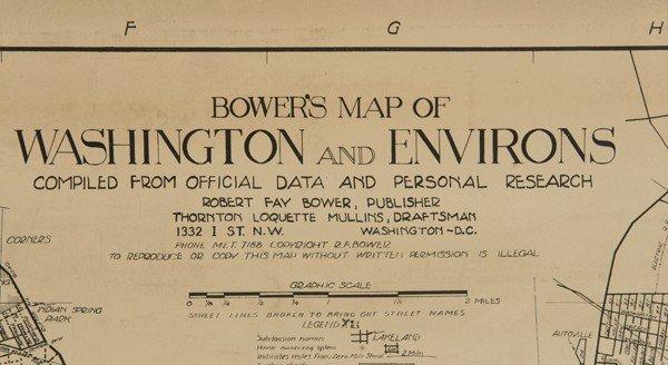 1215: 4 Items: 2 Vols Sanborn + Mitchell's + DC map. - 2