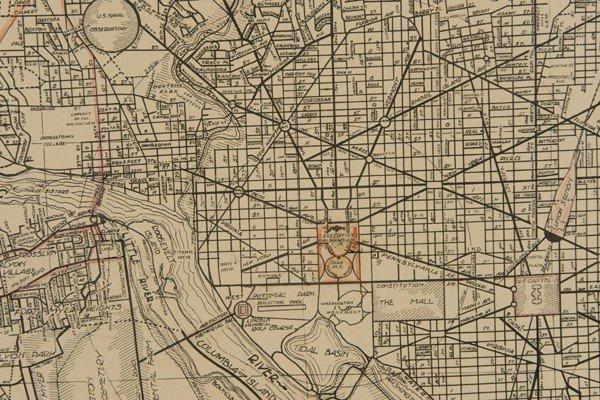 1215: 4 Items: 2 Vols Sanborn + Mitchell's + DC map. - 3