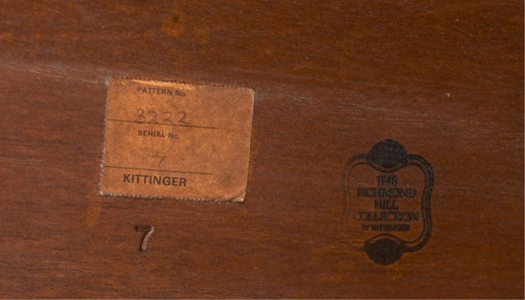 18: Kittinger Richmond Collection Federal Style Table. - 4