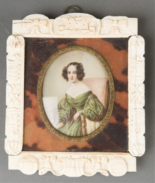 57: 5 late 19th/early 20th century portrait miniatures - 2