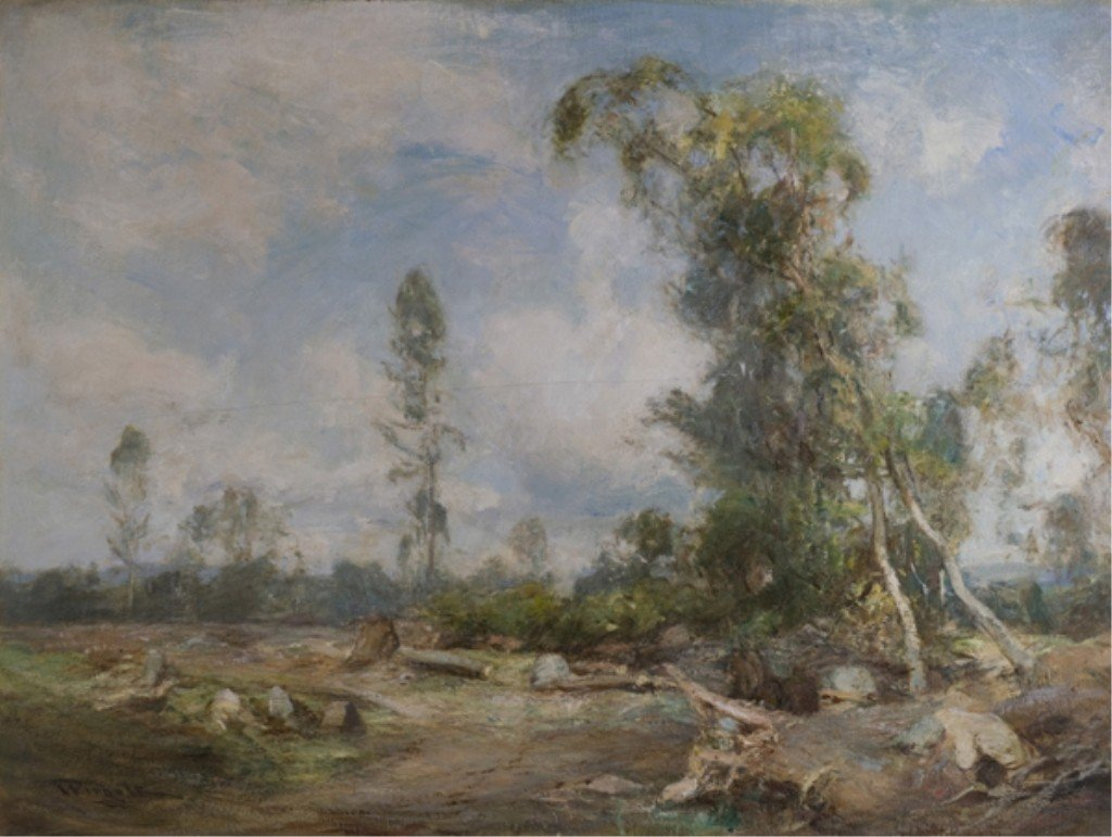 87: Oil on canvas scene by Sir James Lawton Wingate.