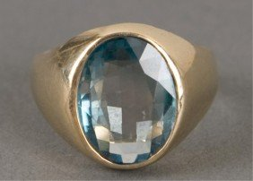 Blue Zircon Men's Ring