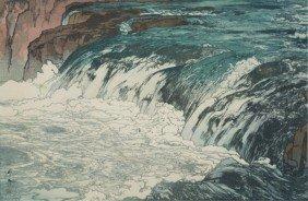 Hiroshi Yoshida Woodblock Rapids