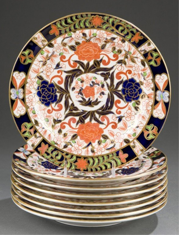 233: Group of 8 Royal Crown Derby Imari Plates.