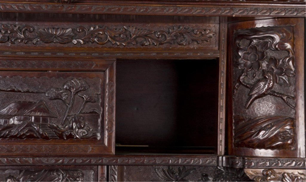 386: Chinese carved rosewood etagere, late 19th/20th c. - 2