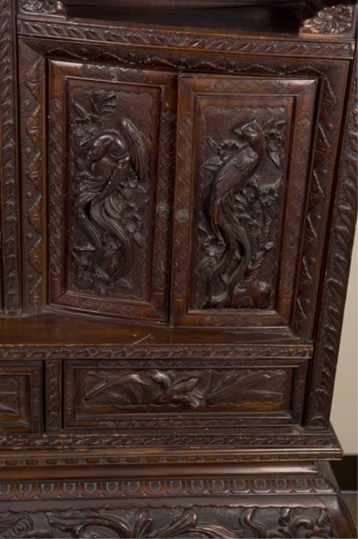 386: Chinese carved rosewood etagere, late 19th/20th c. - 4
