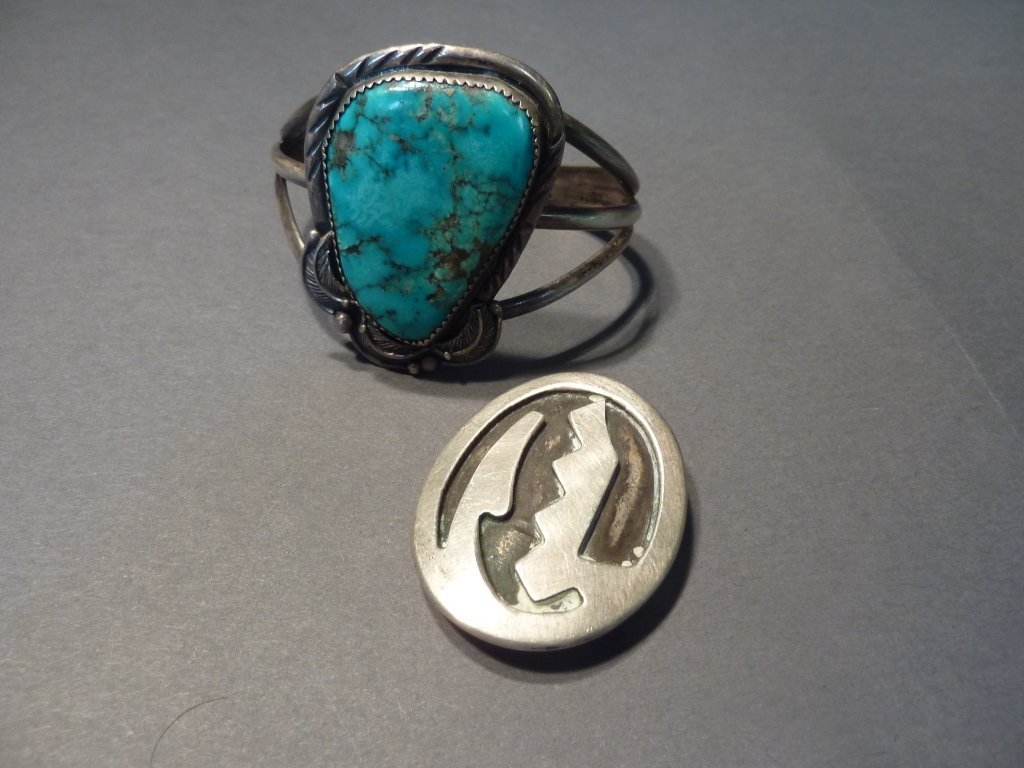 2: Sterling Native American jewelry.