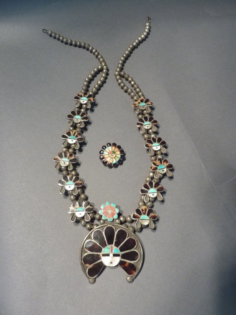 8: Native American squash blossom style necklace