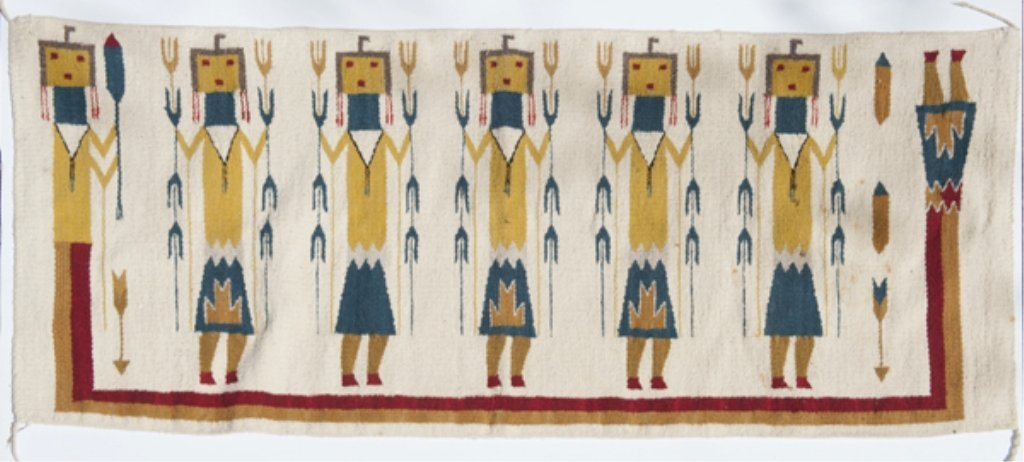 11: Group of 2 Native American style rugs.