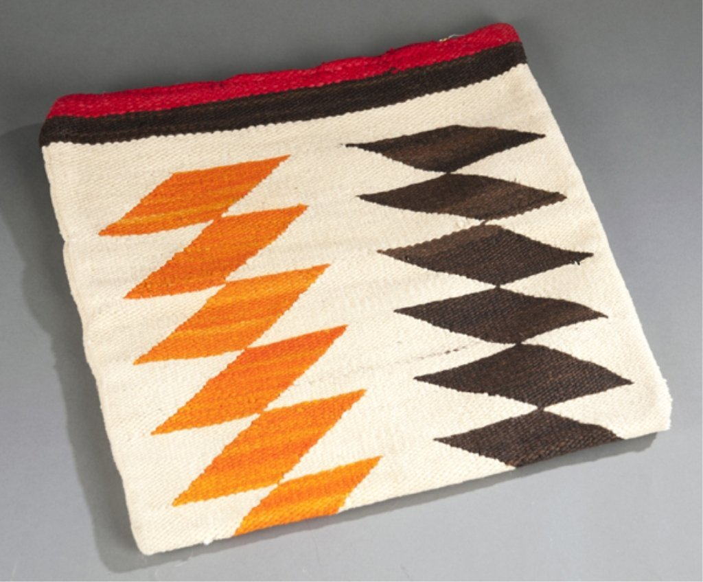 14: 1930's Navajo Rug converted to pillowcase.