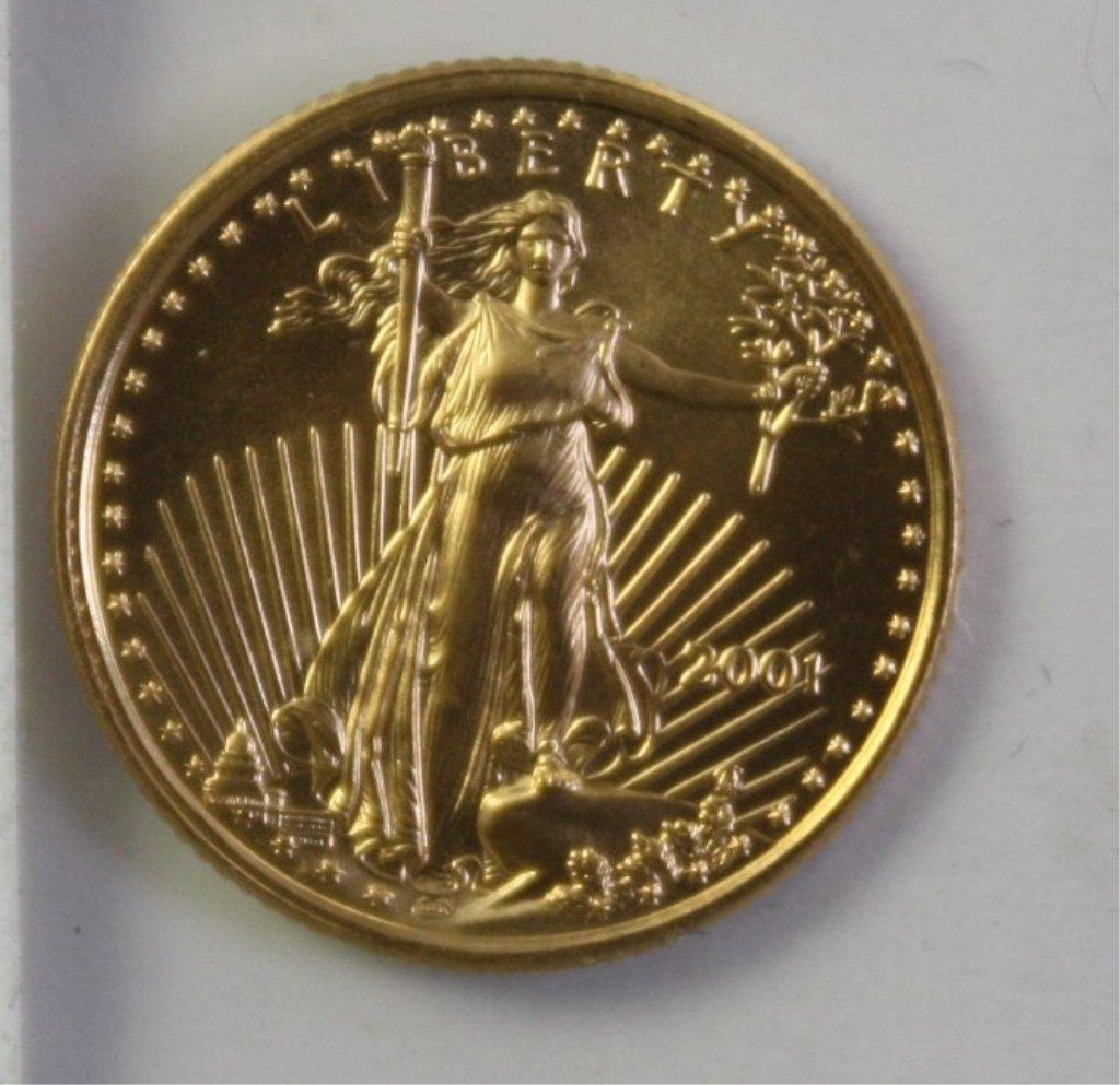 302: Walking liberty 5 dollar gold coin 2001.