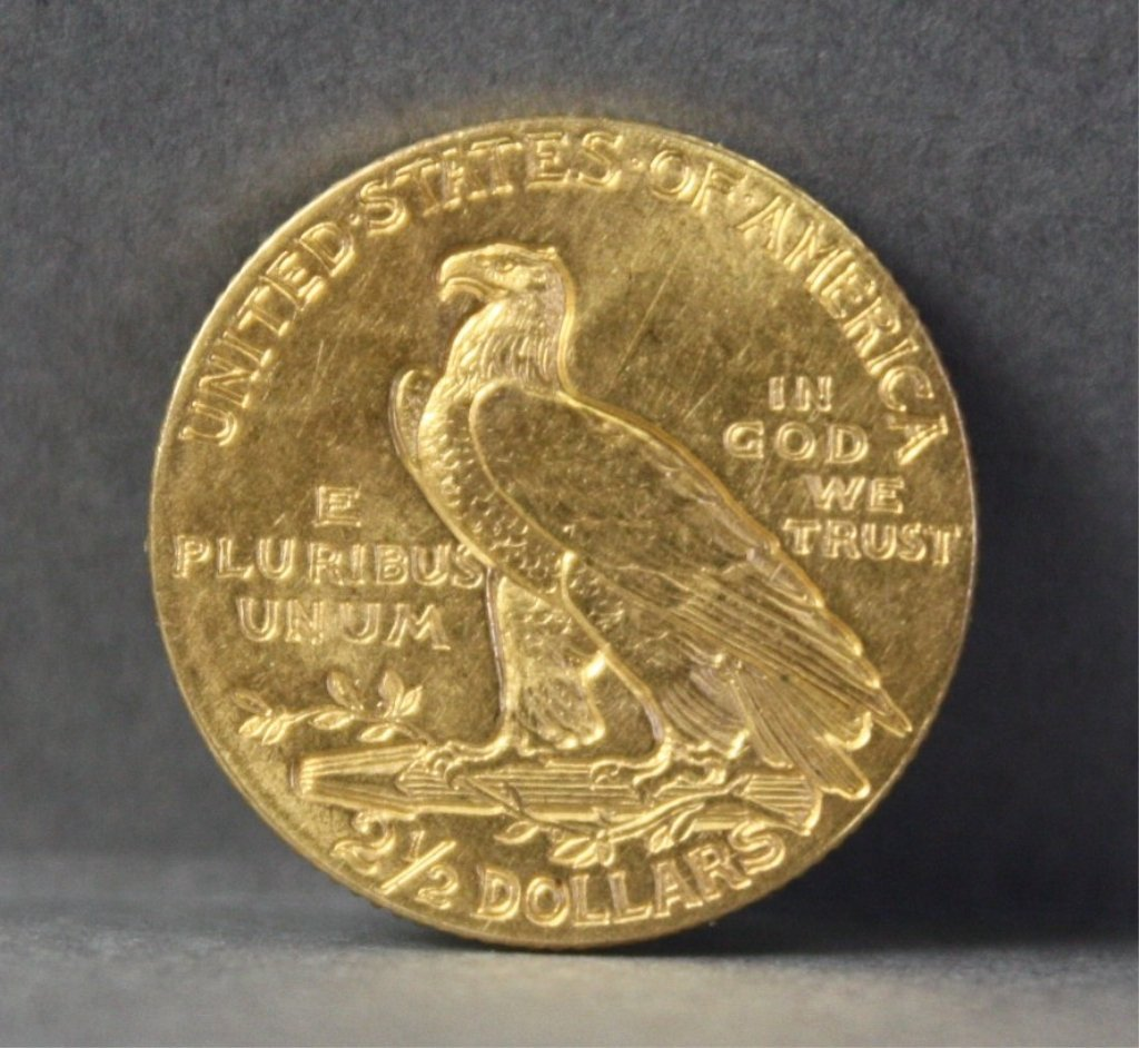 306: United States1908 $2.50 gold quarter eagle. - 2