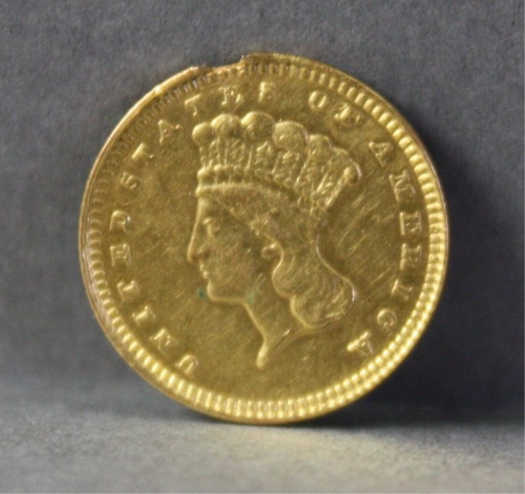 307: United States 1881 $1 gold coin.