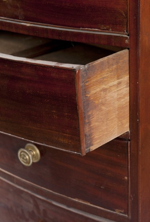 2: Federal style five drawer chest. - 3