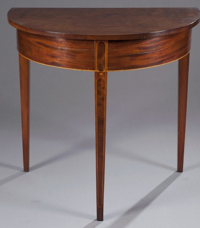 12: Virginia, piedmont region, demi lune table c.1790