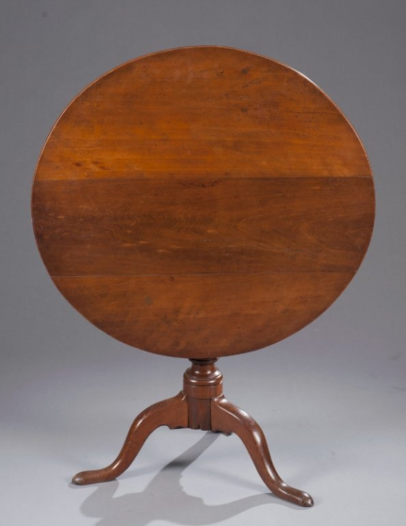 19: c.1880s Chippendale birdcage tilt top table
