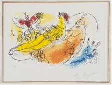113 Marc Chagall pencil signed print LAccordeoniste