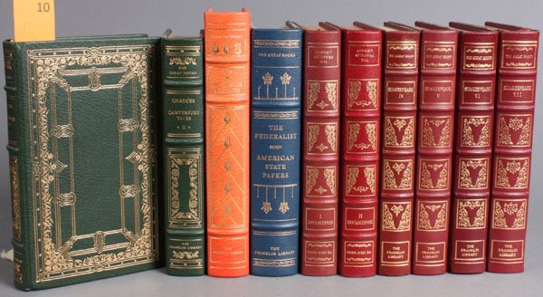 10: 10 Vols: Franklin Library. Shakespeare Chaucer...