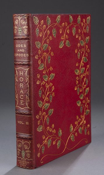 16: The Odes & Epodes Of Horace. 8 Vols in 10.