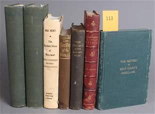 113: 7 Vols incl: A MARYLAND EDITOR ABROAD, 1881.