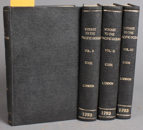 190: Cook, A VOYAGE TO THE PACIFIC OCEAN, 4 Vols, 1793.