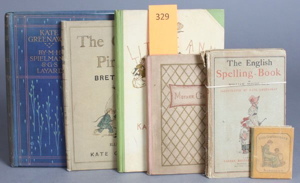 329: 6 Books by Kate Greenaway.