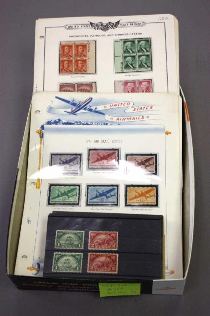 U.S. Mint sets, Plate blocks and singles.