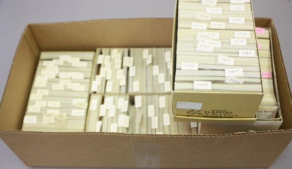 Unused U.S. plate block stamps in glassine