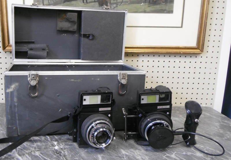 49: Group of Graflex x1 cameras w/ case & acces.