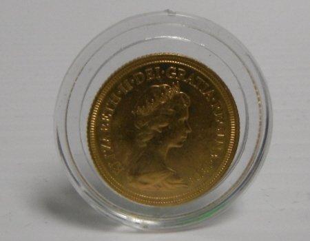 1: 1974 Royal Mint Elizabeth II gold coin AU.