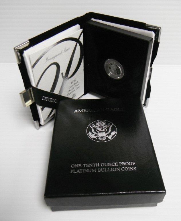 2: 1997 American Eagle proof platinum coin 1/10 oz.