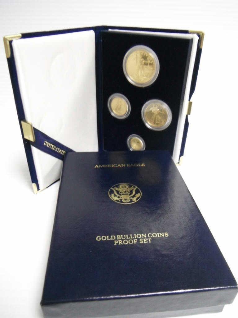 3: 1988 American Eagle gold bullion coin proof set.