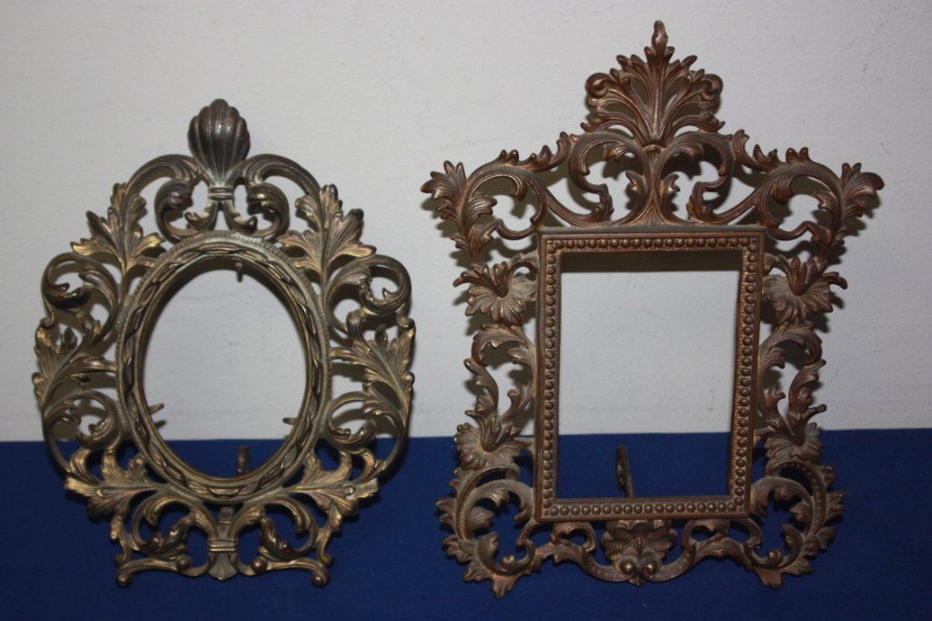 11: Lot of 2 antique scrolling Acanthus picture frames